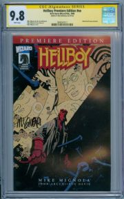 Hellboy Wizard Premiere Edition #1 CGC 9.8 Signature Series Signed Mike Mignola Dark Horse